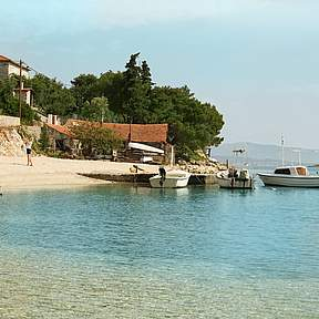 "Swimming in ""Banje""  bay is only a few minutes walk from the house"