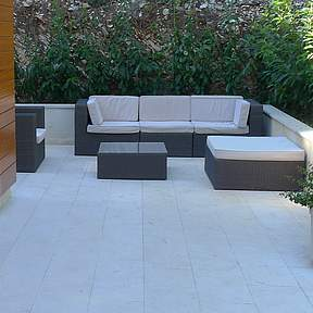 Relax on the comfortable  outdoor lounge