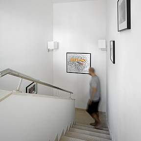 Stairs up to 1st floor